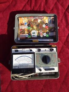 Soviet Russia Vintage Analog Multimeter Tester Indicator In Metal Box
