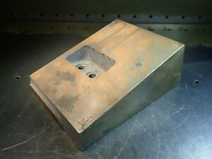6 1 4 X 8 1 4 X 3 5 8 Right Angle Mill Milling Set up Fixture Plate Used Good