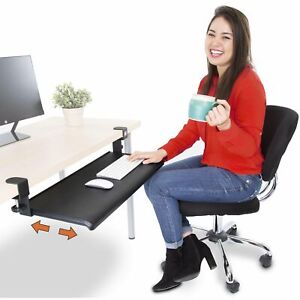 Stand Steady Clamp On Keyboard Tray