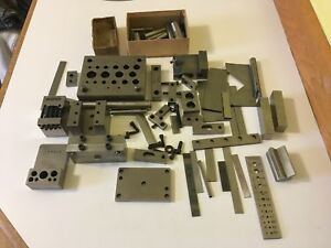 Large Lot Of Machinist Toolmaker Surface Setup Fixture Plate Bench Blocks Tools