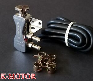 Chrome Universal Adjustable Turbo 30psi Manual Boost Bypass Controller Kit