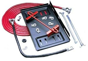 Taylor 48000 Single Trunk Mount Battery Relocation Kit 2 Gauge Cable Terminals
