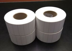 Thermal Transfer 3 x1 Paper Labels With Permanent Adhesive On 3 Core 4 Rolls