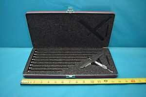 Used Starrett Depth Micrometer 445 With Case