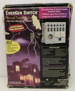 Emergen Switch Manual Transfer Switch Model 6 5000 Factory Box Nos System