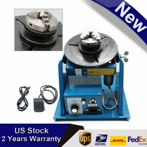 110v Welding Positioner Turntable Table 2 5 3 Jaw Lathe Chuck 2 20rpm 80a Usa