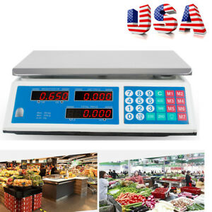 Digital Weight Scale 66lb Price Computing Food Meat Scale Produce Indutrial Sale