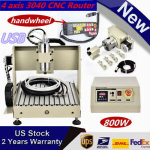 Four 4 Axis 3040 800w Cnc Router Cnc Engraving Milling Machine mach3 Handwheel
