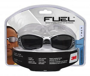 Fuel Sport Safety Glasses Silver black With Grey Mirror Lens