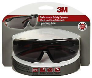 Performance Safety Glasses Black red