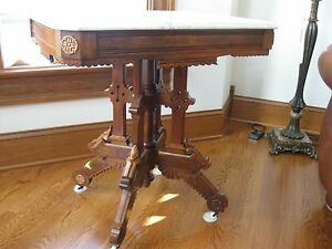 Antique Victorian Marble Top Table Gorgeous