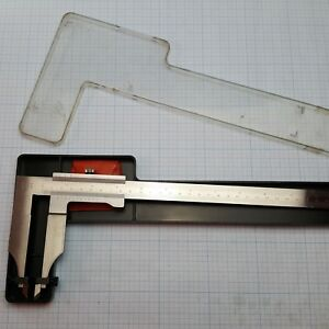 Carl Mahr Vernier Caliper 350mm 14 germany Jaw Scribe Attachment ussr