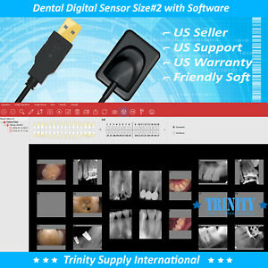 Dental Digital X ray Sensor Size 2 With Software Remote Support