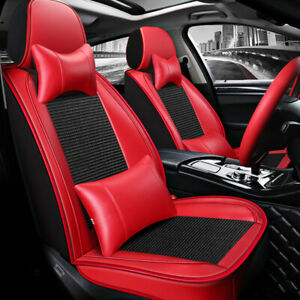 Universal Pu Leather cooling Mesh Seat Covers Us 5 Seats Car Front