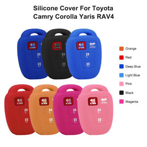 4 Buttons Key Silicon Cover For Toyota Corolla Camry 2012 2018 Remote Fobs