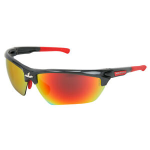 Dominator Dm3 Polarized Safety Glasses With Red Mirror Lens Gray Frame