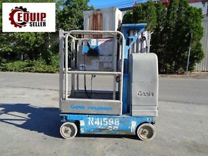 2006 Genie Gr15 Electric Personal Boom Scissor Man Aerial Lift 15ft Height