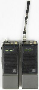 Lot Of 2 Ge Ericsson Plsh05 Vhf Walkie talkie Handheld Two way Radios