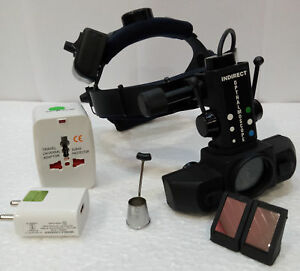 Binocular Led Indirect Ophthalmoscope Reachargeable Wireless 20d Aspheric Lens