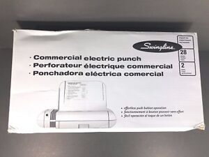 Swingline 28 sheet 2 hole Commercial Electric Two hole Punch 74532 Free Ship