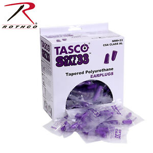 Tasco Soft Seal Disposable Range Shooting Disposable Earplugs 200 Pieces Per Box
