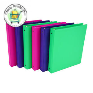 3 Ring Binder Samsill Fashion Color Storage 1 Inch Ring 6 Pack Assorted New