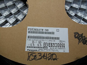 Eeveb2c330sq 33uf 160v Aluminum Electrolytic Capacitors 1 Roll Of 150