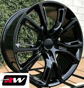 For Jeep Grand Cherokee Srt Aftermarket Wheels 22 Inch Gloss Black 22x9 Rims