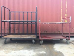 Industrial Rolling Warehouse Cage Carts 2 Sizes