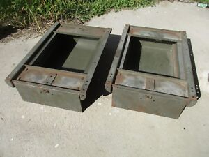 Two Vintage Lyon Pull Out Drawer Industrial Cabinet