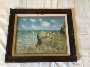 Vintage Wooden Frame With Carvings Beautiful Artwork Included Look Pix