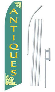 Antiques Windless Flag Swooper Full Sleeve Feather Custom Banner Kit Made Usa