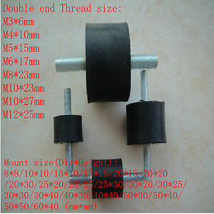 Double End Thread Multiple Rubber Damper Rubber Multi Mount Mount Size