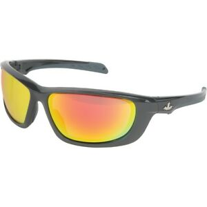 Uss Defense Safety Glasses With Polarized Red Mirror Lens Gray Frame