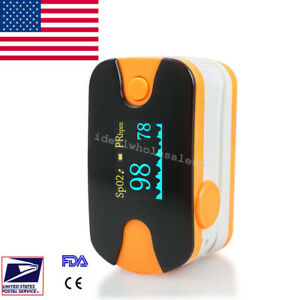 10pcs Fingertip Pulse Oximeter Oxymeter Spo2 Pr Monitor Audio Alarm Us Seller