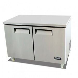 Migali C u48f Under counter Freezer Two Solid Doors