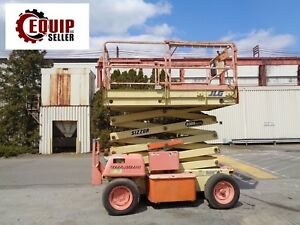 Jlg 3369e Electric Scissor Boom Man Aerial Telescopic Lift 33ft Height