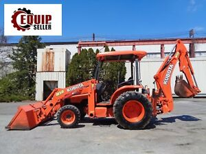 Kubota M59 4x4 Backhoe Loader Tractor Diesel Low Hours