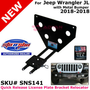 Sto N Sho Sns141 For 2018 Jeep Wrangler With Metal Bumper License Plate Bracket