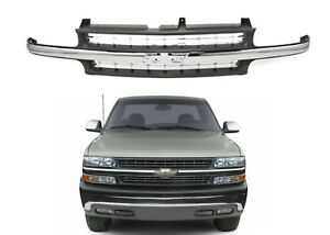 Replacement Chrome Grill For 1999 2002 Chevrolet Silverado New Free Shipping Usa