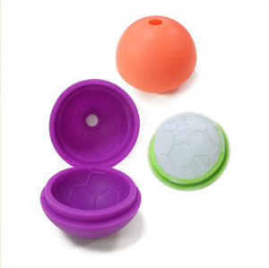 Set of 4 Whiskey Ice Cube Silicon Ball Maker Mold Sphere Round Ice Ball Maker