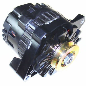 Black One 1 Wire Alternator 220 Amps Hi Output For Chevrolet Gm