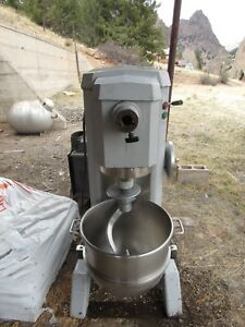 Univex Mixer Model M60 Standing Mixer With Dough Hook Attachment And Bowl