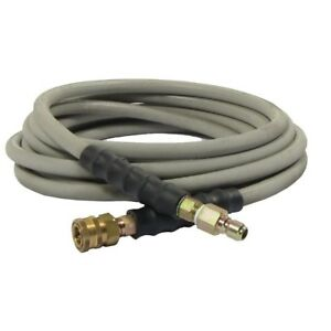 Pressure Washer Hose 3 8 X 50 Ft Quick connect Couplers Wrapped 4000 Psi Gray
