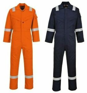 Portwest Ufr21 Flame Resistant Anti static Coverall Bizflame Orange Or Navy