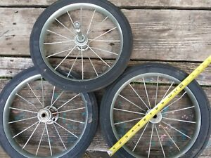 Lot Of 3 14 Inch Rubber Wheels Tires