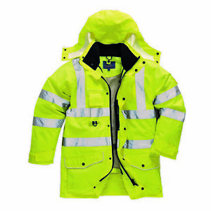 Portwest Us427 Hi vis 7 in 1 Ansi Class 3 Traffic Jacket Yellow
