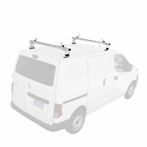 Aluminum 2 Bar 50 Cargo Van Top Ladder Roof Racks White Fits Nissan Nv200