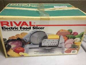 Rival Electric Food Slicer Model 1101 Meat Deli Stainless Steel ddd43