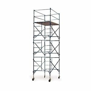 Buffalo Tools 3 story Rolling Scaffold Tower Blue New Free Shipping